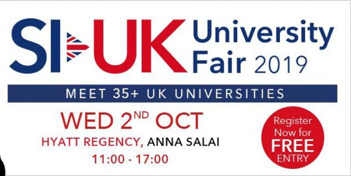 Meet 40+ UK Universities at India's biggest UK education fair in Chennai.