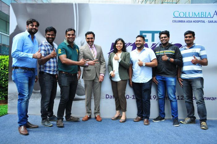 ETV fitness challenge launched for employees at the tech park by Columbia Asia Hospital Sarjapur Road