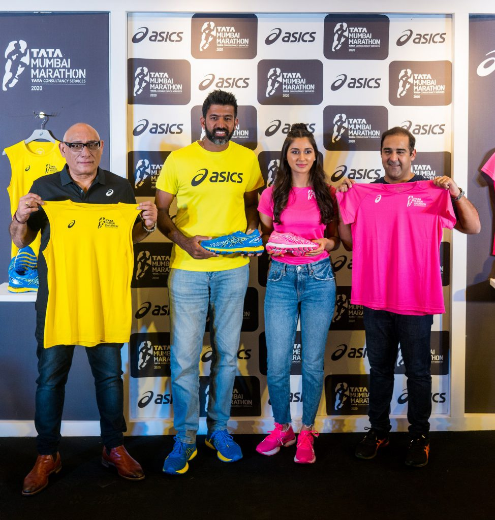 Procam MD Anil Singh, Tennis Star Rohan Bopanna, Nikita Dutta launched the ASICS Race-Day T-shirt and the limited-edition GEL-Nimbus 22