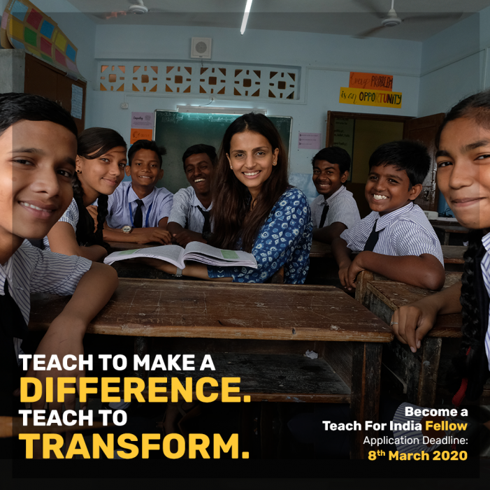 Teach For India announces the final round of applications for its Fellowship programme.