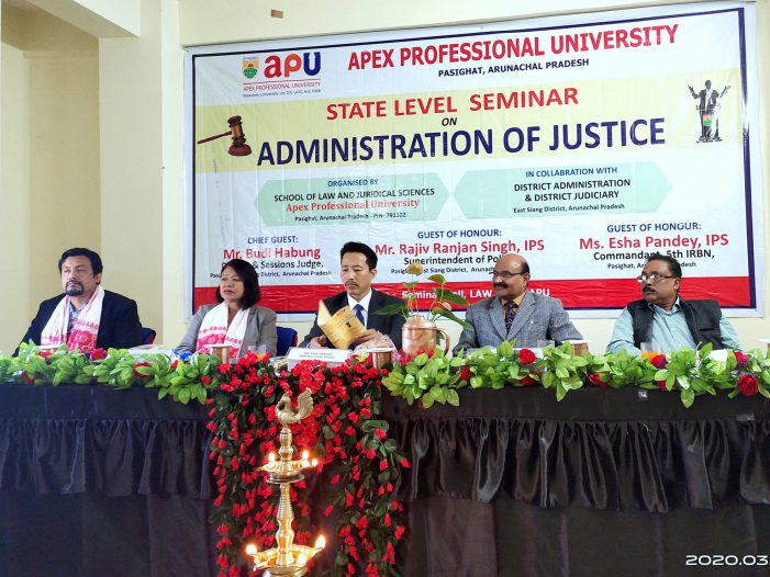 Apex Professional University Holds Seminar on Administration of Justice