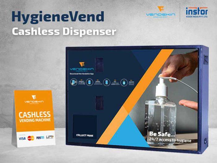 Vendekin Partners With Instor India to Produce Hand Sanitizer Vending Machine