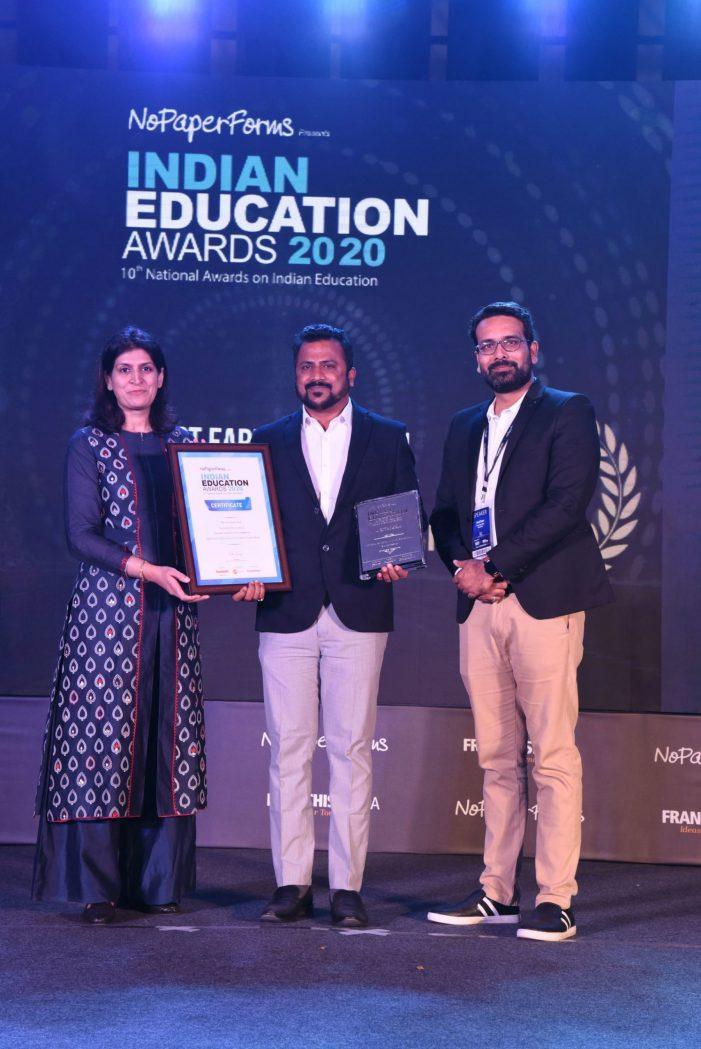 EuroKids Pre-School won the Best Early Education Innovative Curriculum