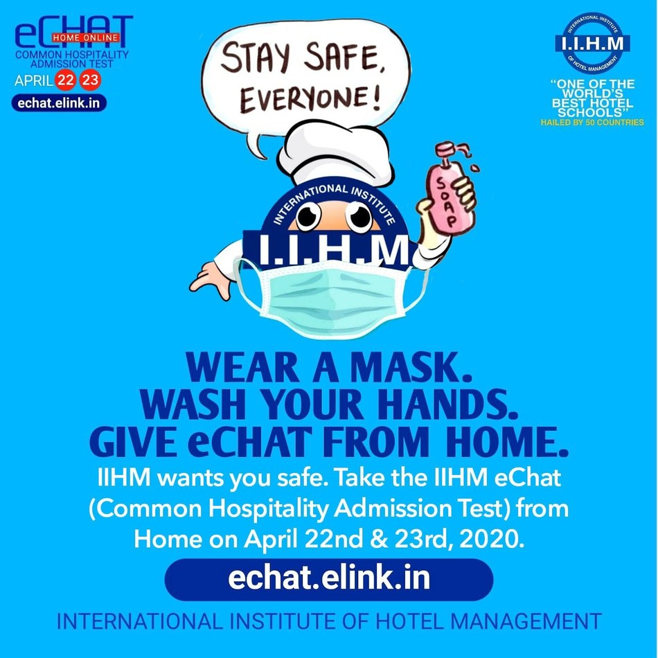Thousands of Candidates Appear for IIHM's First E-Chat Home Online Exam for Hospitality
