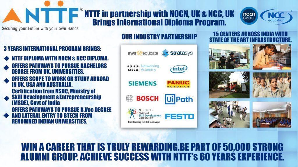 NTTF Organizes a Free Webinar on International Diploma Programs