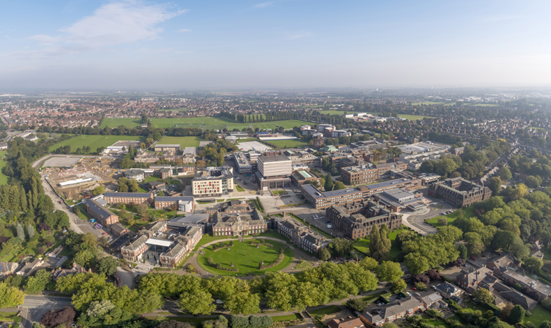 University of Hull Campus Aerial from Cottingham Road
