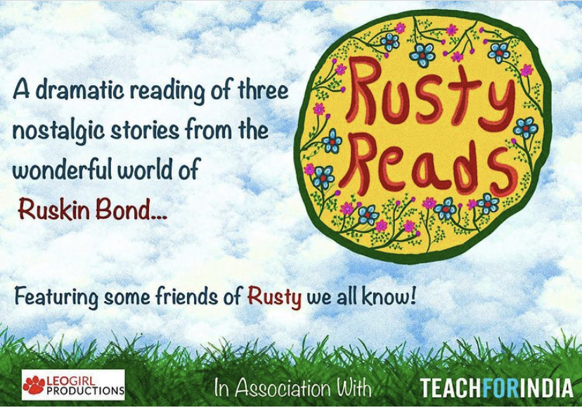 #RustyReads with Ruskin Bond - A fundraiser presented by Leogirl Productions and Teach For India