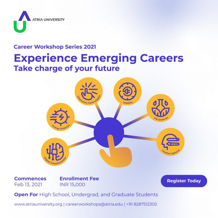 Atria University launches Career Workshop Series 2021 to orient students to emerging careers