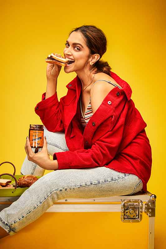 Deepika Padukone and Epigamia collaborate to create a range of Chocolate Spreads made from Ghee!